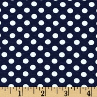 Riley Blake Stretch Knit Small Dot Navy