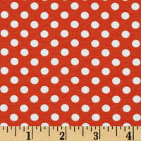 Riley Blake Jersey Knit Small Dots Orange