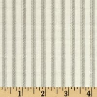 Vertical Ticking Stripe Cotton Duck Ivory/Tan