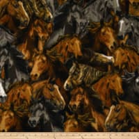 Baum Winterfleece Packed Horses Multi