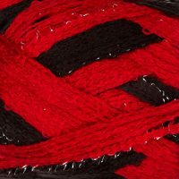 Red Heart Boutique Sashay Team Spirit Yarn Red/Black Yarn