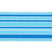 "1 1/2"" Grosgrain Stripes Blue/Turquoise/White"