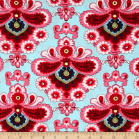 Amy Butler Belle French Wallpaper Duck Egg