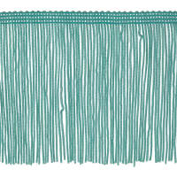 "4"" Chainette Fringe Trim Mint Green"