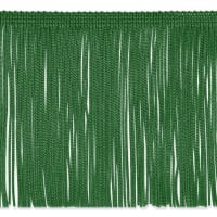 "6"" Chainette Fringe Trim Emerald"