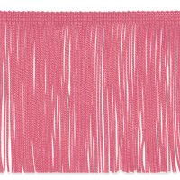 "6"" Chainette Fringe Trim Hot Pink"