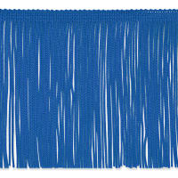 "6"" Chainette Fringe Trim Royal Blue"