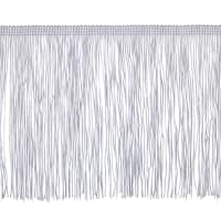 "6"" Chainette Fringe Trim White"