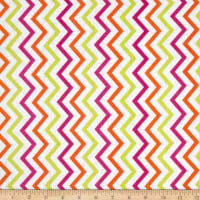 Michael Miller Mini Chic Chevron Sherbet