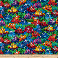 Timeless Treasures Clown Fish Multi