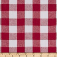 "Kaufman Woven 1"" Carolina Gingham Red"