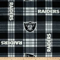 NFL Fleece Las Vegas Raiders Plaid Black/White