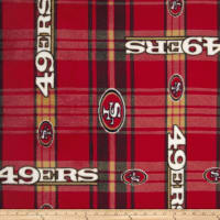 NFL San Francisco 49ers Plaid Fleece Red/Yellow