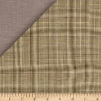 Kaufman Double Cloth Cotton Glen Plaid Khaki