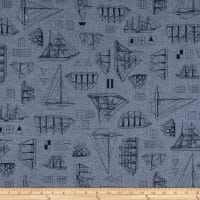 Kaufman Nautique Chambray Prints Indigo
