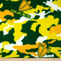 NCAA Oregon Ducks Fleece Camo Green/Yellow