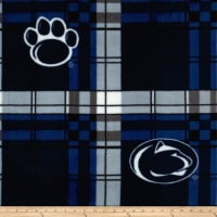 Collegiate Fleece Pennsylvania State University Fleece Plaid Blue/White