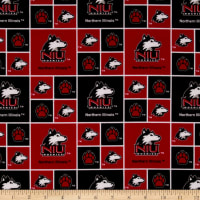 Collegiate Cotton Broadcloth Northern Illinois University Red