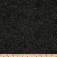 "Leafy Scroll 108"" Wide Back Black"