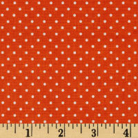 Riley Blake Swiss & Dots Orange/White