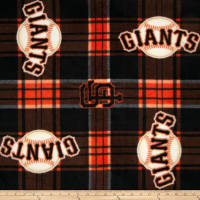 MLB Fleece San Francisco Giants Plaid Black/Orange