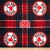 MLB Fleece Boston Red Sox Plaid Blue/Red