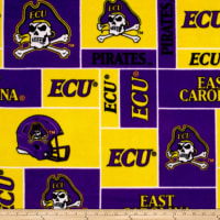 NCAA East Carolina Pirates Fleece Purple