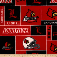 NCAA Louisville Cardinals Fleece Black/Red