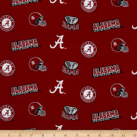 NCAA Alabama Crimson Tide Broadcloth Crimson