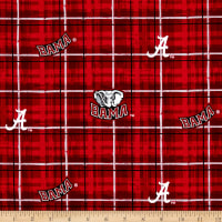 Collegiate Cotton Broadcloth University of Alabama Plaid
