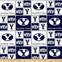 Collegiate Cotton Broadcloth BYU Blocks