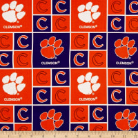 NCAA Clemson Tigers Broadcloth Logo