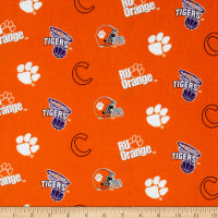 Collegiate Cotton Broadcloth Clemson University Orange