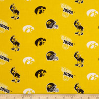 Collegiate Cotton Broadcloth University of Iowa Old Gold