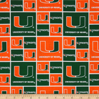 NCAA Miami Hurricanes Collegiate Green/Orange