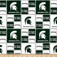 Collegiate Cotton Broadcloth Michigan State