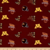 Collegiate Cotton Broadcloth University of Minnesota Maroon