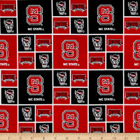 Collegiate Cotton Broadcloth North Carolina State