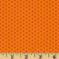 Kaufman Spot On Pindot Orange