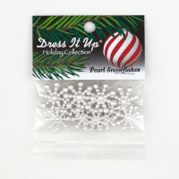 Dress It Up Embellishment Buttons  Pearl Snowflakes