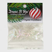 Dress It Up Embellishment Buttons  Crystal Snowflakes