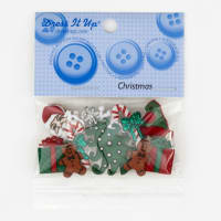 Dress It Up Embellishment Buttons  Mm Christmas