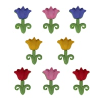 Dress It Up Embellishment Buttons  Easter Tulips