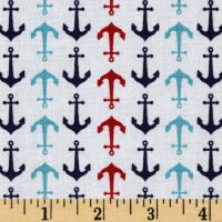 Riley Blake Anchors White