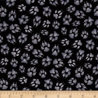 Wild Run Paw Prints Black