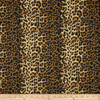 Poly/Cotton Twill Leopard Print Brown/Cream