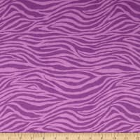 Flannel Zebra Purple