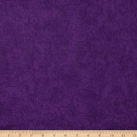 "110"" Wide Flannel Quilt Back Willow Dark Purple"