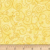 "Westrade 110"" Wide Flannel Quilt Back Willow Yellow"