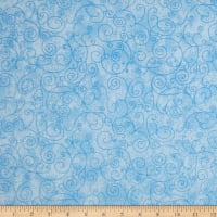 "Westrade 110"" Wide Flannel Quilt Back Willow Light Blue"